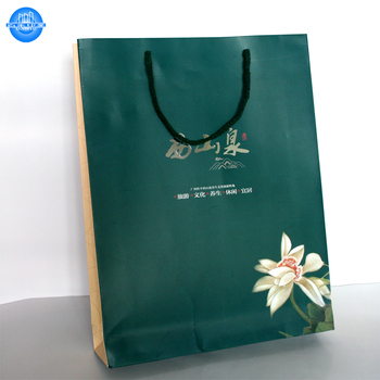 Cheap custom printing shopping paper bag with Logo design