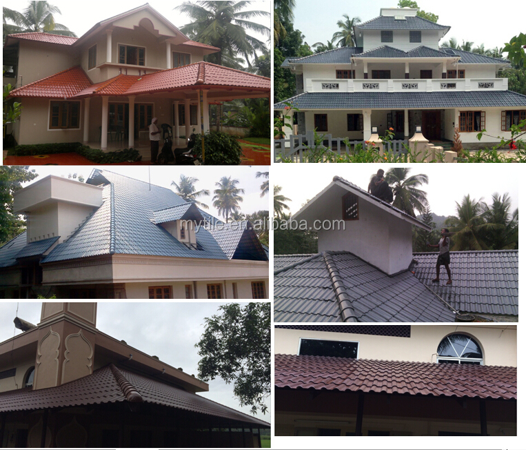 2017 Double color Kerala clay roof tile