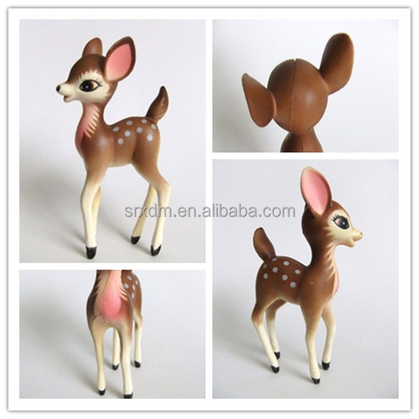 personnalis en plastique cerfs figurine personnalis s jouets pour d coration de no l animaux. Black Bedroom Furniture Sets. Home Design Ideas