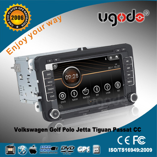 Whole sale CE certificate vw jetta touch screen radio dvd player gps Navigation with radio,blue tooth, ipod, mp3 etc