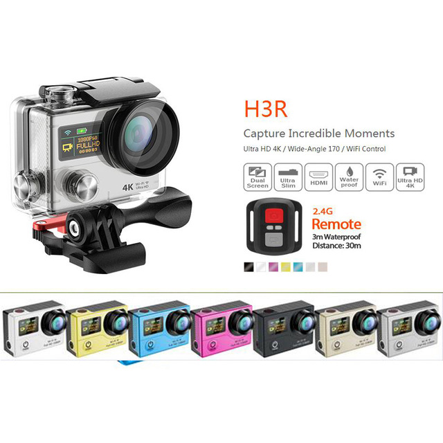 4K WIFI Sports Action Camera Car Dash Cam Ultra HD Waterproof Helmet Bicycle Video camera 16MP with Wi-Fi Image Stabilization