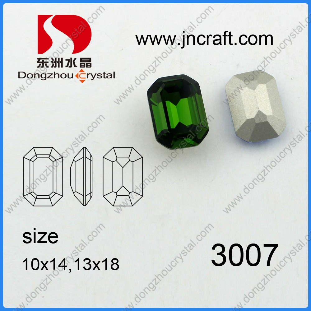 Loose emerald crystal stone decorative for fancy jewelry