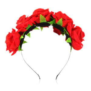 Girl Floral Crown Rose Flower Headbands Hairband Wedding Hair*Garland Headpiece AD1950