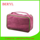 Clean Promotional Cotton Mesh PVC PU Cosmetic Bag for Pouch