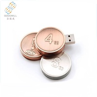 2017 wholesale best price 2.0 coin shaped usb flash drive