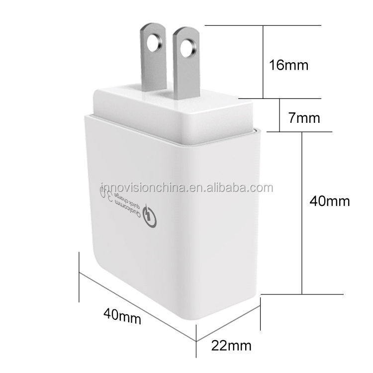 Quick Charge QC 3.0 Fast Charger Wall Charger for Mobile Phone and Tablets