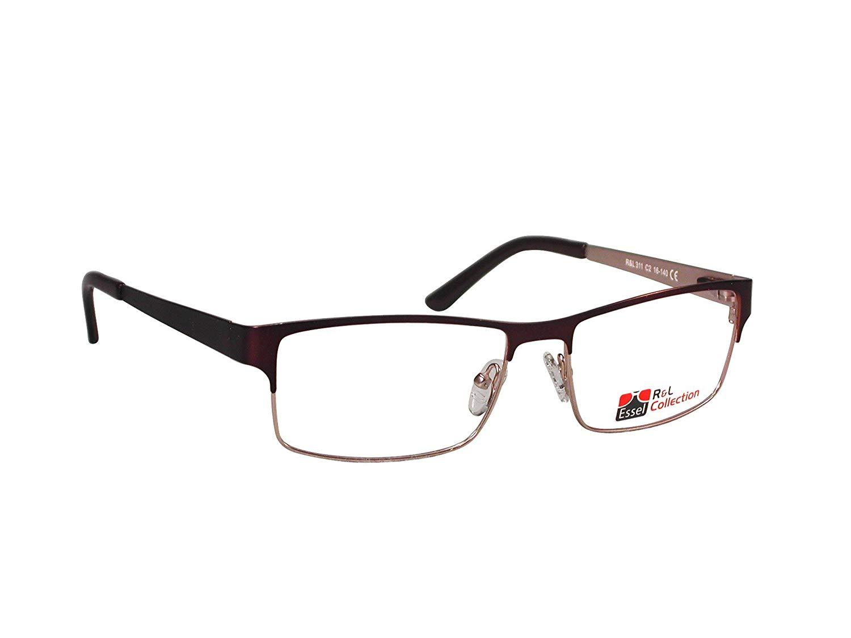 dd392d7e920 Designer EyeGlasses Stylish Full Rim Rectangular Metal Frame for Non- Prescription or Prescription Clear Lens