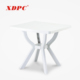 Lightweight 4 seater plastic square outdoor picnic balcony dining table