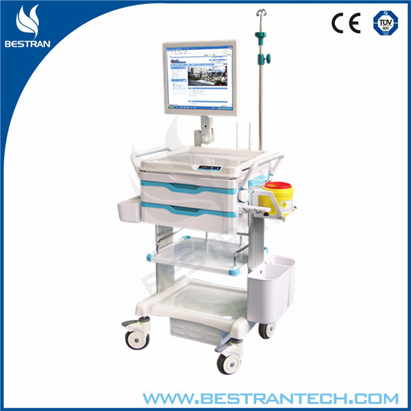 BT-LY03 Mobile nurse workstation hospital computer trolley design