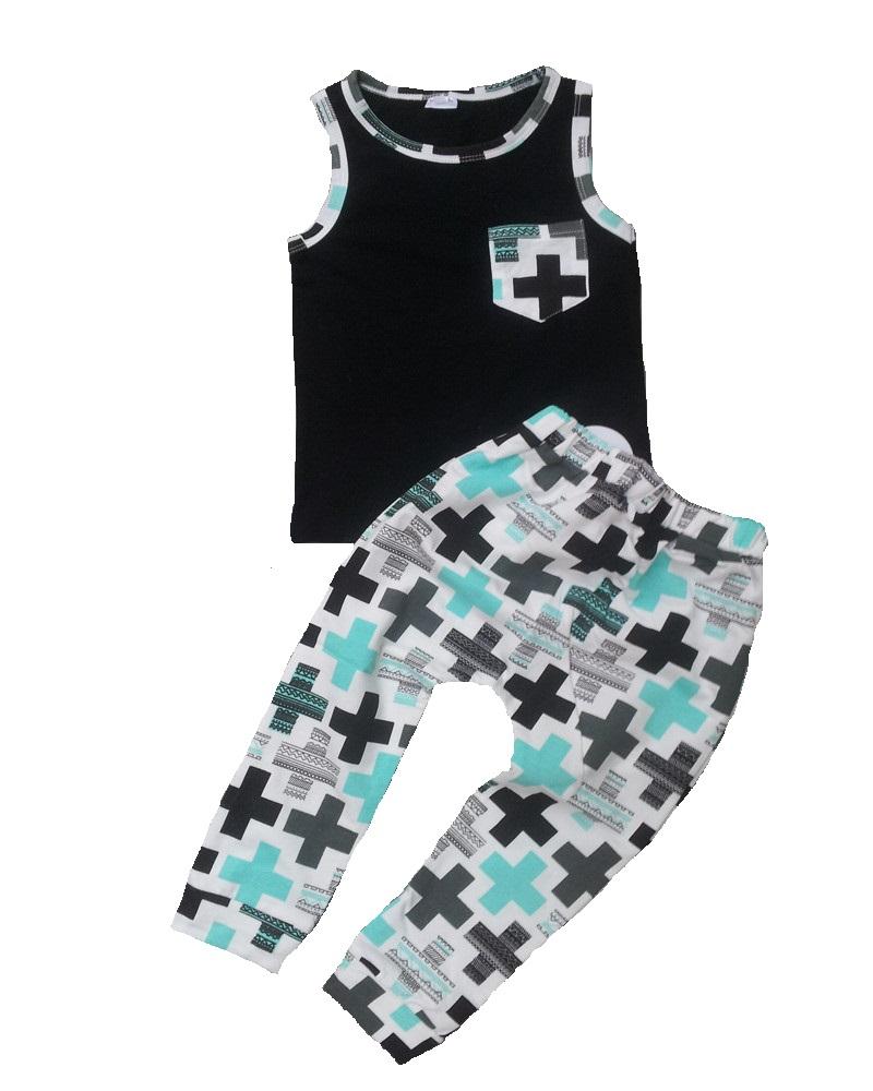 Summer kids clothes sets boy vest shirt+pants 2pcs suit children sport suits baby boy clothes kids boys clothes