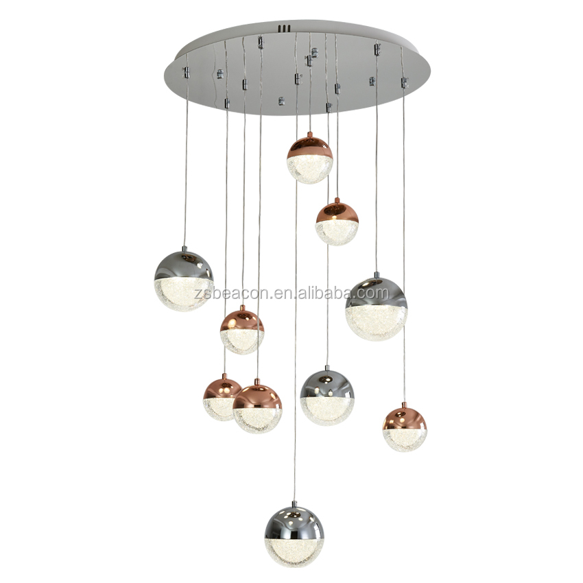 Factory price hot sale low price New design Led chalazie crystal of silica sand Crystal litter Nogal pendant lights