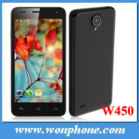 4.5 Inch RAM 1GB ROM 4GB MTK6582 Quad Core 3G Phone W450