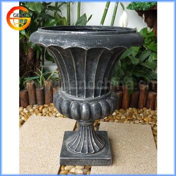 Planter Urn Pedestal Garden Planters And Urns