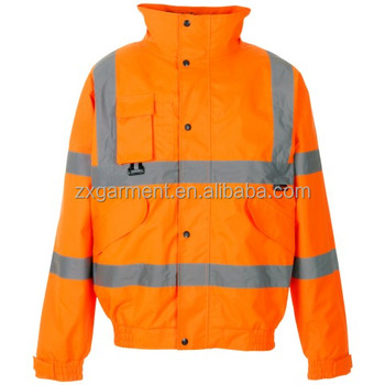 High vis reflective bomber jacket