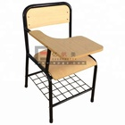 High Quality School Furniture Student Chair with Writing Pad