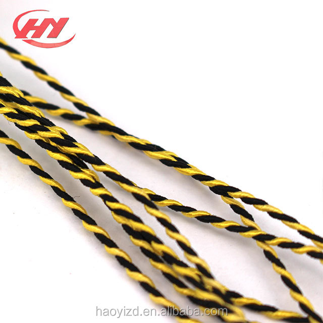 Black Green,Yellow,Red,White,Blue 5 Meters  3mm Flat Braided Nylon Cord in