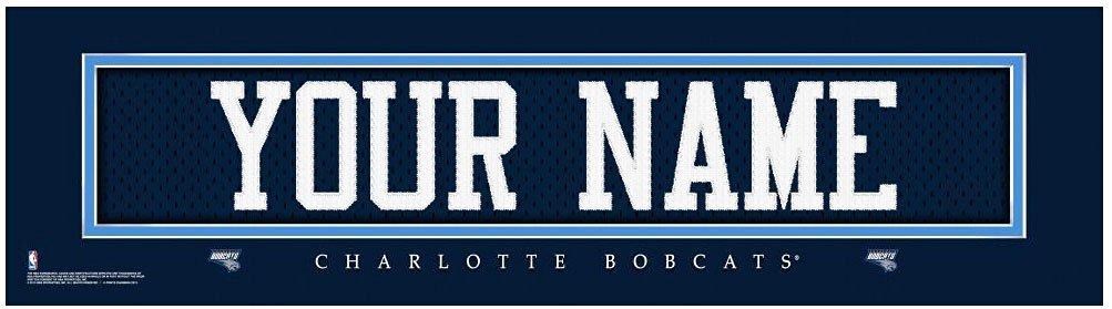 NBA Jersey Stitch Print Charlotte Bobcats Personalized Framed