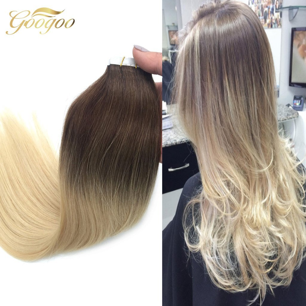 Buy Googoo 18 Balayage Hair Extensions Ombre Pu Tape In Hair