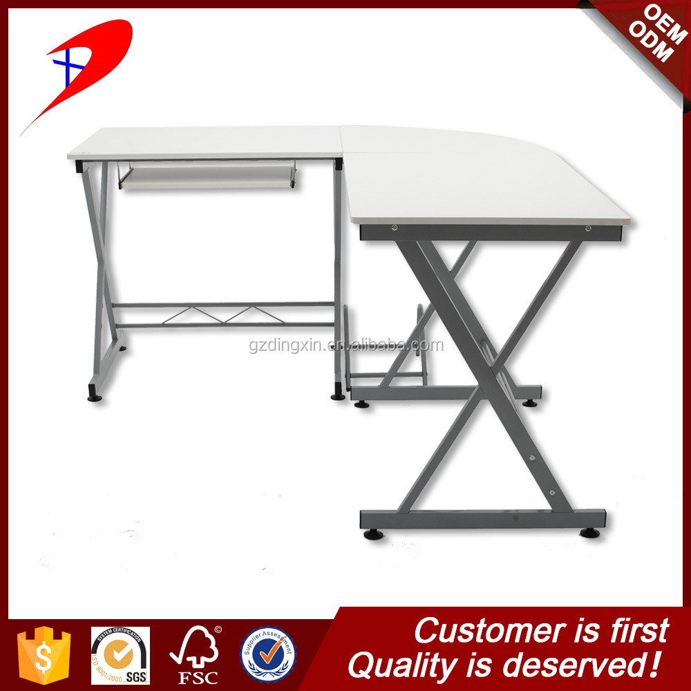 China hot commercial aluminium writing managing director fancy glass computer desk with melamine