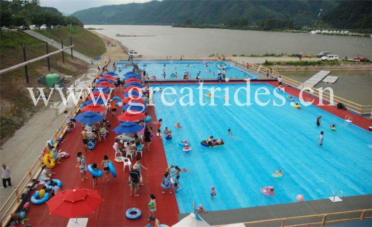 Novo design barato preço verão water park aço retangular metal frame piscina for sale