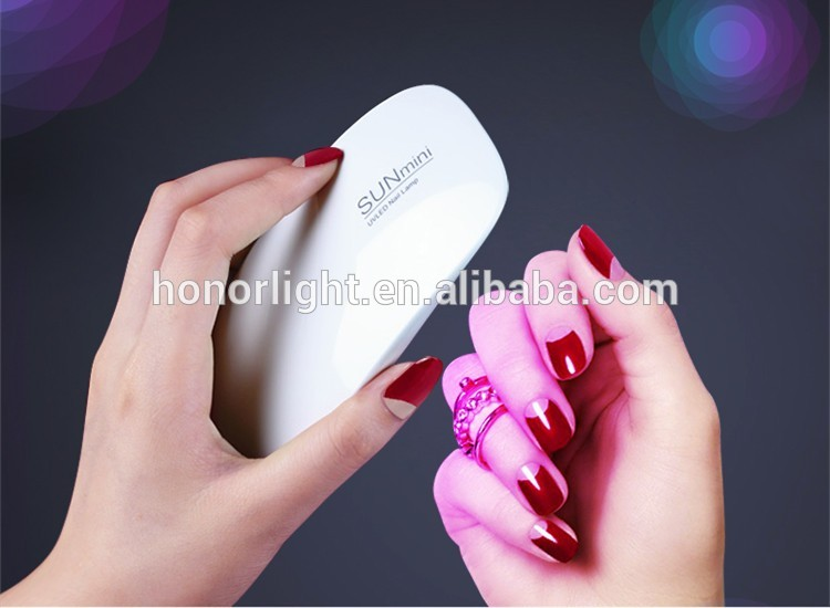 Nail art tool 6w easy to carry mini UV nail lamp fast dry all nail gel polish