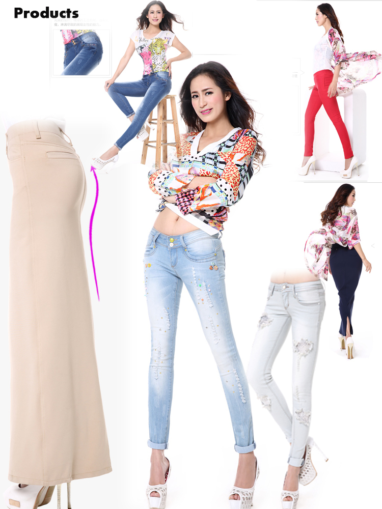 Fashion Ripped Jeans For Girls And Skinny Women Jeans With Monkey ...