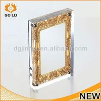custom made stand for small photo frame,crystal metal photo frame,digital photo frame with calendar