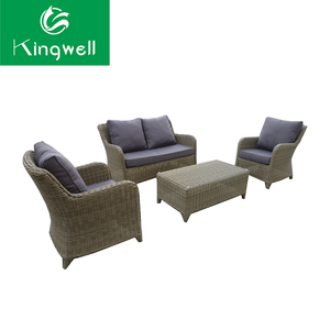 Elegant patio furniture rattan sofa 4 seater