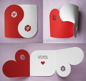 Hot Heart Shape Handmade Greeting Card
