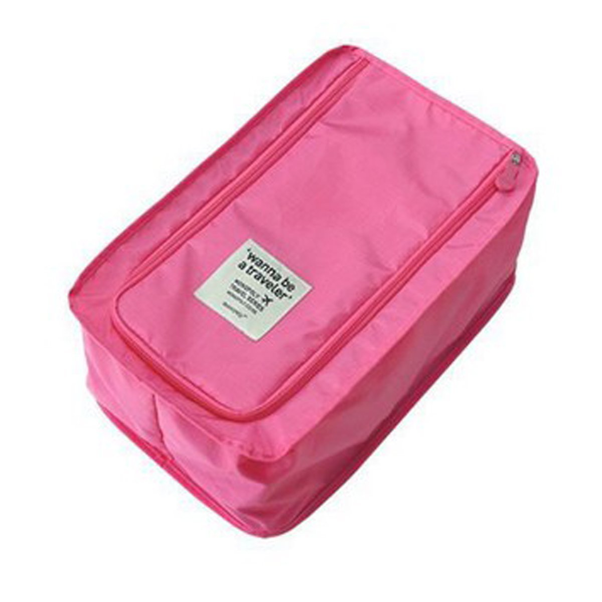 DEHANG Waterproof Nylon Ventilated Durable Portable Travel Shoes High Heel Boots Slippers Organiser Storage Bag for Travel Rosy