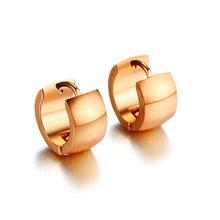Женские серьги-кольца Vnox, базовые серьги из полированной нержавеющей стали розового и золотого цвета, аксессуары для девочек(Китай)
