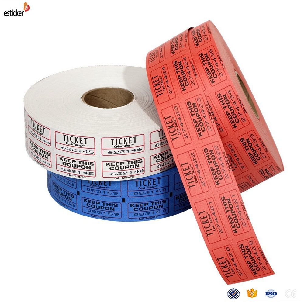 Hot sell RFID label Thermal Paper Card Ticket