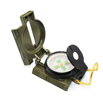 Outdoor Travel Army Portable Folding Multi-function Compass For Hiking Climbing Expedition
