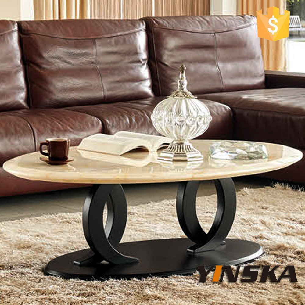 Malaysia White Round Coffee Table