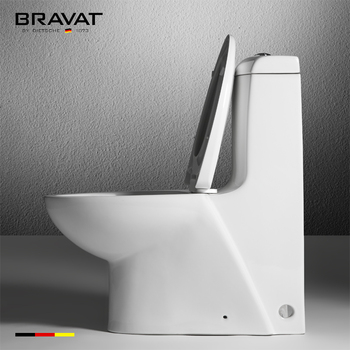 Bravat Bathroom Ceramic with soft-closing cover water tank toilet, View  water tank toilet, Bravat Product Details from Bravat (China) GmbH on