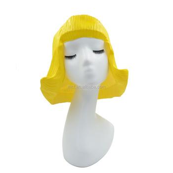 MCH-2502 Cosplay Dora wig custom cheap women yellow short Latex party hair  wigs wholesale 91aae6ab00