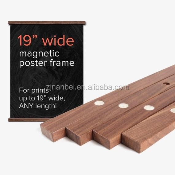 Print Hanger A3 or A4 Wooden Poster Hanger Print Display Oak Poster Hanger