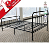 Hot Selling European Bedroom Furniture Wrought Iron Bed Cheap Iron Double Bed Design