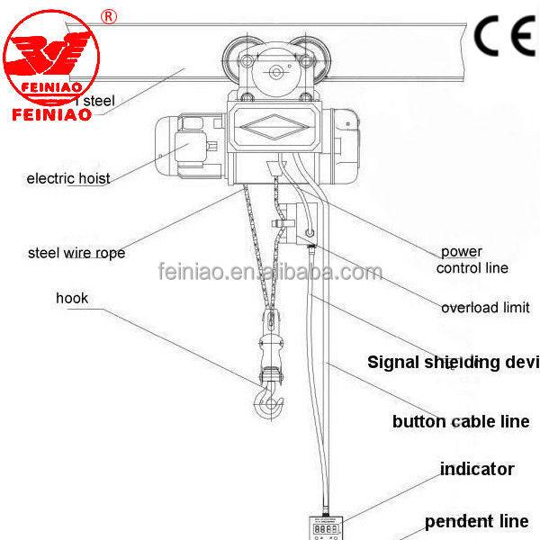 factory use 110v mini hoist hgs-b electric hoist