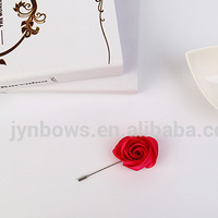 Silky Rose Lapel Rose Flower Handmade Boutonniere Pin For Suit