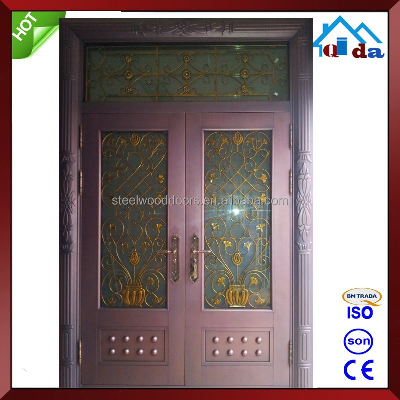 Dise o de doble metal exterior puerta de vidrio puertas for Disenos de puertas de vidrio