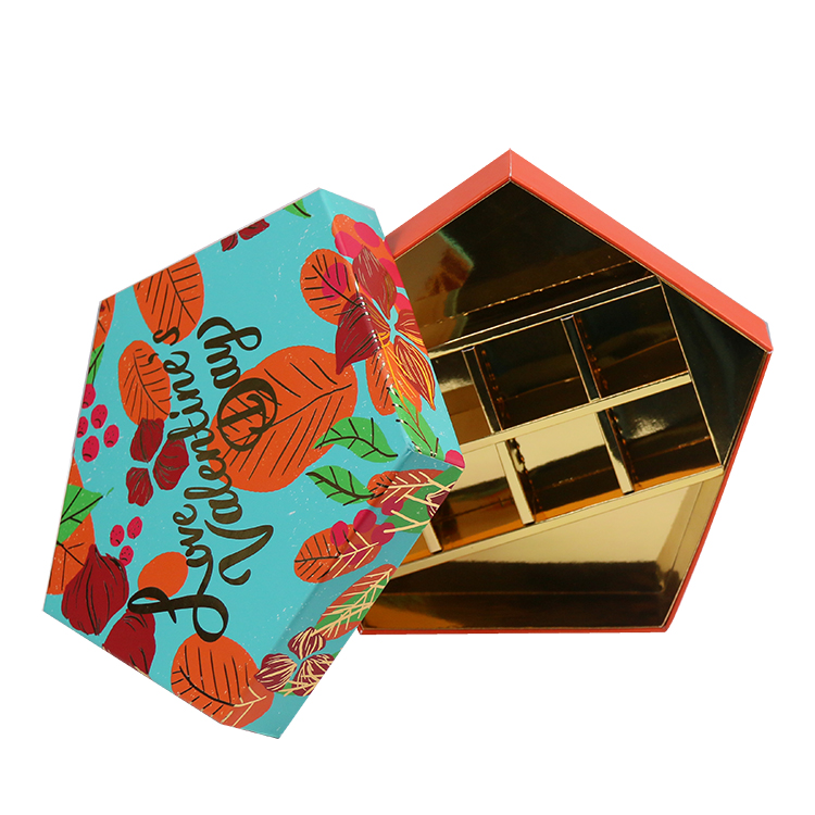 Package Factory Custom pentagon Merry Christmas chocolate boxes luxury