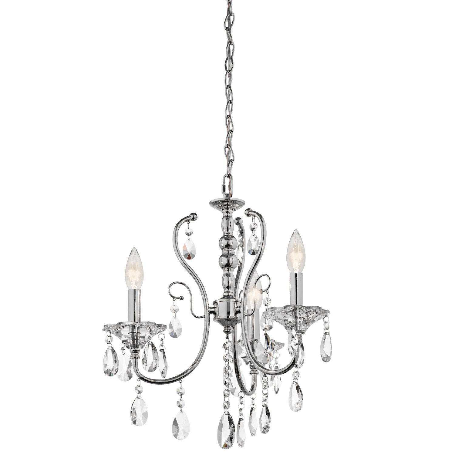 Buy kichler lighting 43120ch jules 3 light mini chandelier chrome kichler lighting 43120ch jules 3 light mini chandelier chrome finish with crystal accents aloadofball Images