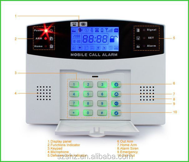 99 wireless zones+8 wired zones Wireless Home Security LCD display Burglar PSTN/GSM Alarm System