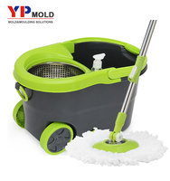 China rotating mop bucket mould maker mop pail plastic injection mold