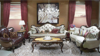 Luxury French Baroque Living Room Sofa Set Royal Palace European Antique Castle Style
