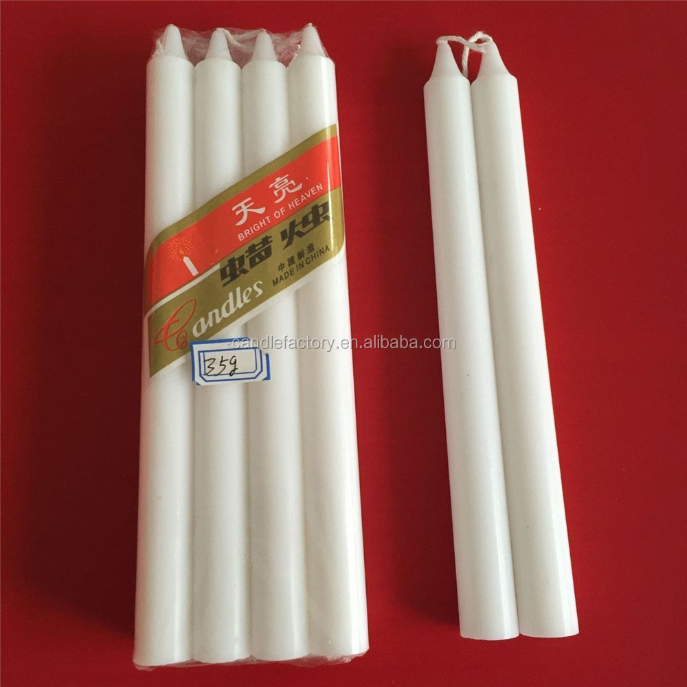 Cheap paraffin dinner white pillar candle for household lighting
