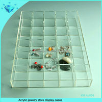 Acrylic jewelry store display cases