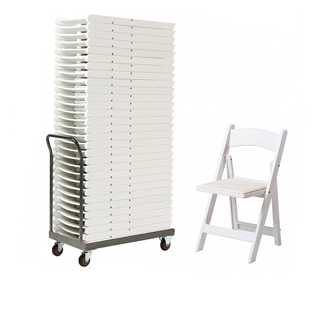 ZY39190 Wedding event rental wholesale white resin/wooden folding chair