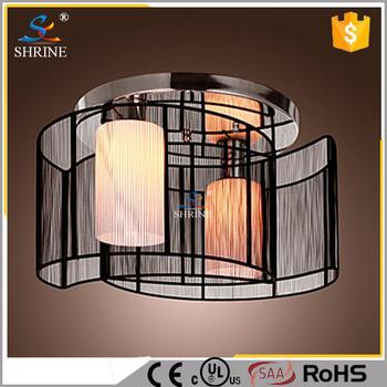 Modern Indoor Lighting Gl Ceiling With Black Fabric Lamp Shade Model Sc8021 2b
